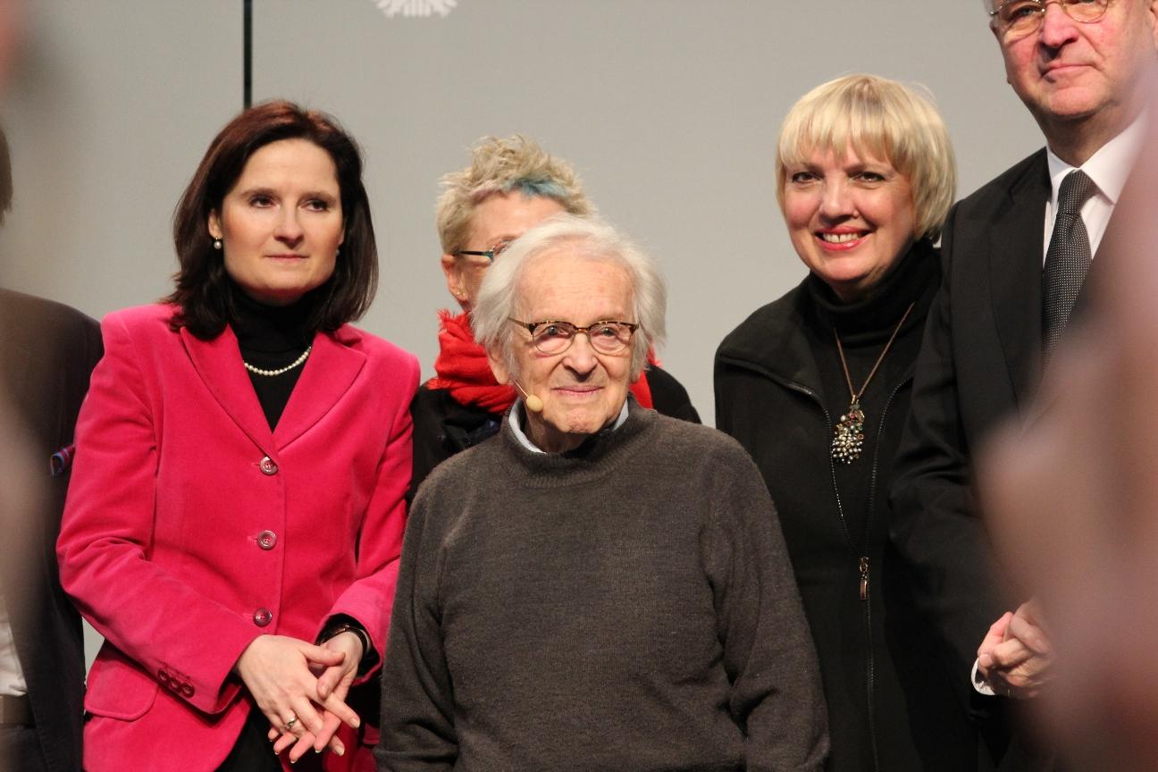 Yehuda Bacon im Bundestag. 70 Jahre nach der Befreiung von Auschwitz. Veranstaltung mit Claudia Roth u.a. Foto: Karl Grünberg