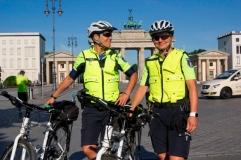 Streife vor dem Brandenburger Tor