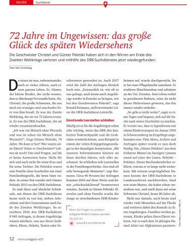 DRK-Suchdienst, Artikel Karl Grünberg